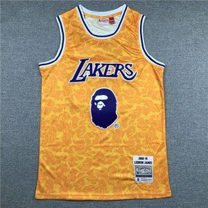 Men's Los Angeles Lakers James #23 Golden Jersey